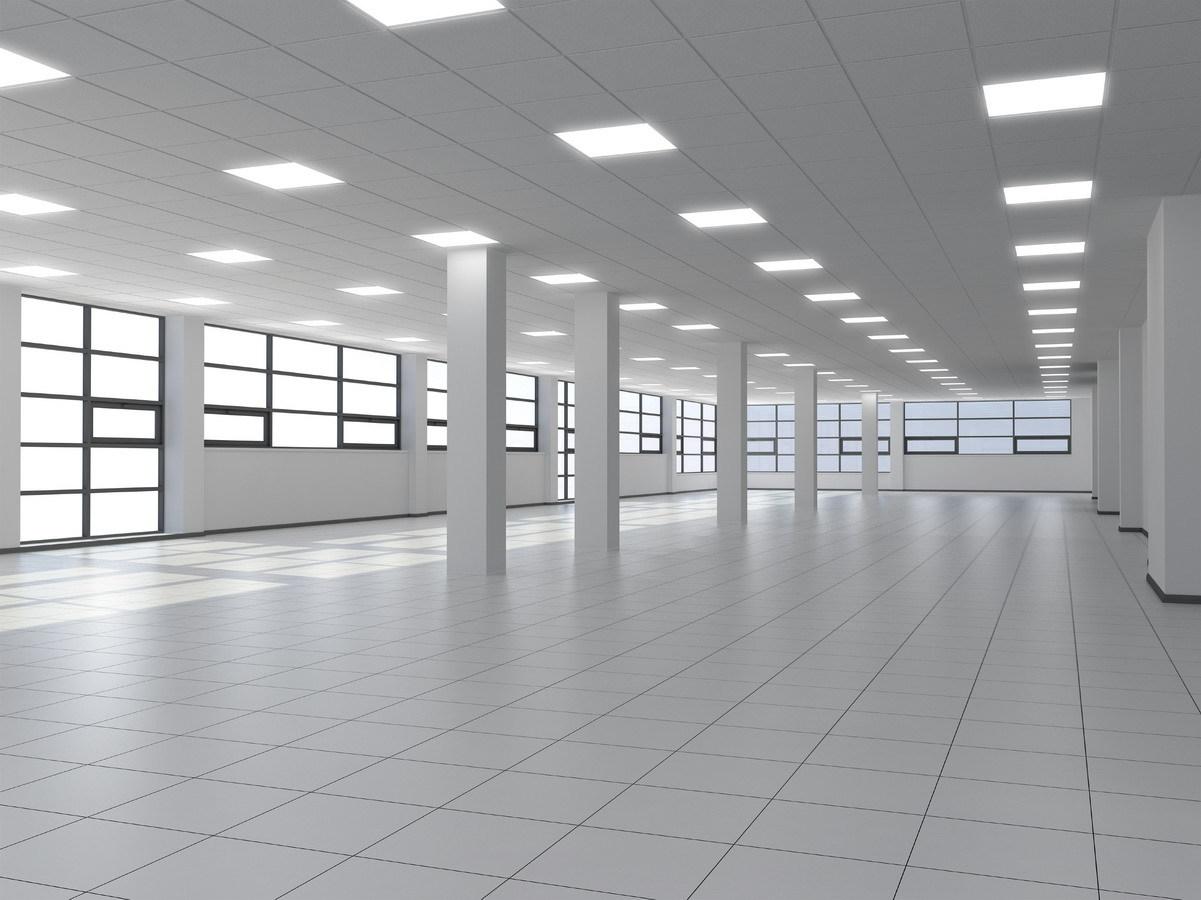 Trần thạch cao vuông với đèn LED cho hành lang rộng của công ty